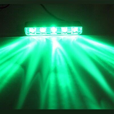 GREEN 5 LED POD ACCENT LIGHT Wire Attached Motorcycle/Car/Home/ATV/BOAT 12V DIY