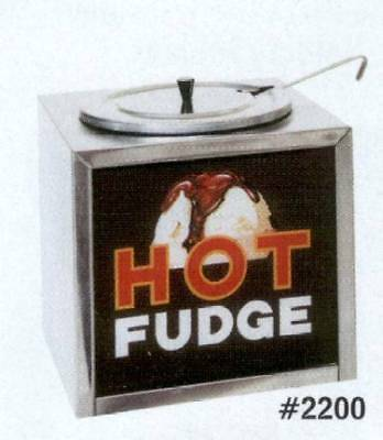 2200 Hot Fudge Warmer with Colorful Illuminated Sign - GREAT FOR PARTIES