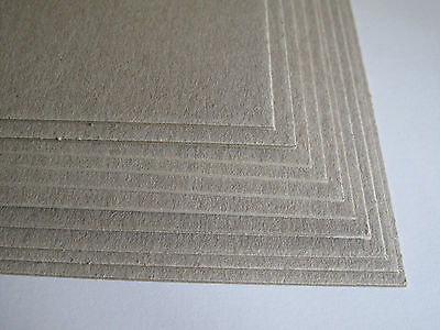 10 x A4 Greyboard Craft Card Grey Board 1000mic 1mm