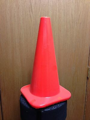 "18"" Orange Safety Traffic Cones 15/Pkg, Wide Body Perfect For Soccer"