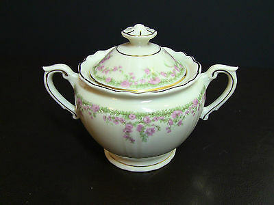 Syracuse China Federal Shape ALLENDALE Ivory Sugar Bowl with Lid