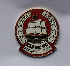 Rare Clyde Fc Hard Enamel Badge ****do Not Miss****