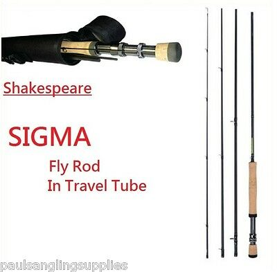 Shakespeare Sigma Fly Fishing Rods & Cordura Case / Tube Carbon Fibre MKi