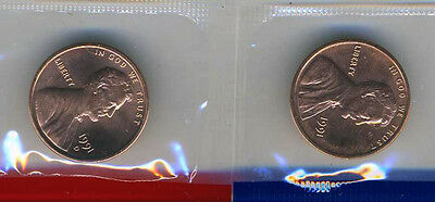 1991 P & D Lincoln Cents Gem Bu from munt sets