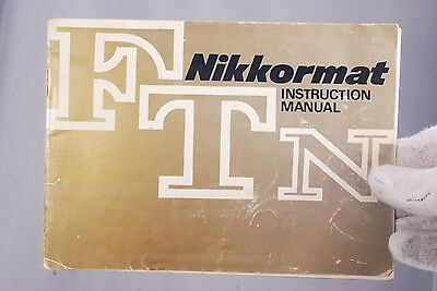 Nikon Camera Nikkormat FTN Instruction Manual (EN) 7208004