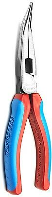 Channellock E388CB 8in. High Leverage Angle Long Nose Plier Code Blue Grip