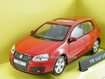 Volkswagen Golf Gti Car 1/43Rd Scale Model Red Hatchback Mint Boxed  **