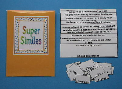 Teacher Made Literacy Center Resource Game Similes