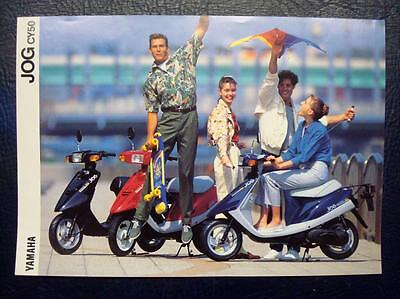YAMAHA JOG CY50 - Motorcycle Sales Brochure - C.1991 - #LIT-3MC-0107001-91E.