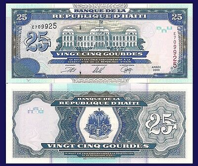 Haiti P266, 25 Gourde, Palace of Justice, Port-au-Prince, see UV, 2000 UNC