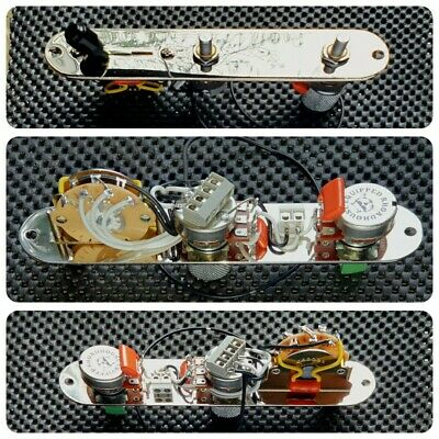 Fully loaded Fender Telecaster Tele 5 way control plate wiring harness upgrade