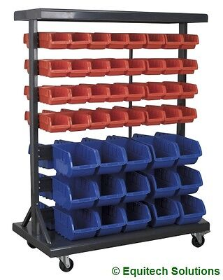 Sealey Tools TPS94 Parts Storage Container System 94 Plastic Bins Steel Racking