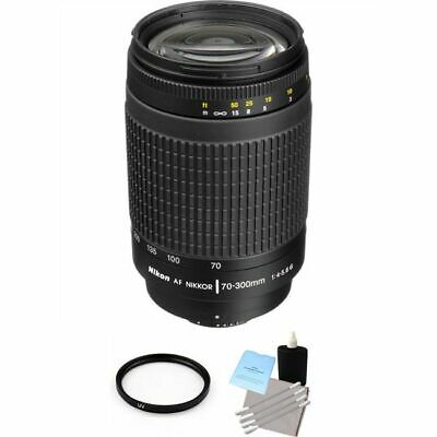 Nikon AF Zoom-NIKKOR 70-300mm f/4-5.6G Lens + UV Filter & Lens Cleaning Kit
