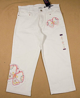 The Childrens Place Girls 8 Capri Pants Nwt Tcp White Butterfly Butterflies