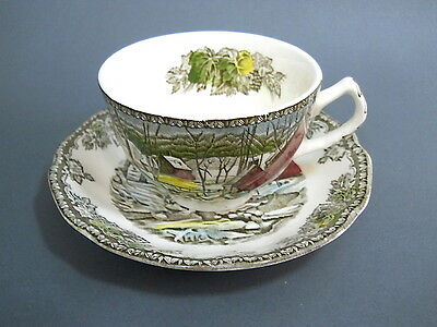 Vintage Johnson Brothers Friendly Village Coffee Cup and Saucer Made in England