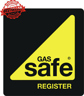 Gas Safe  Iron / Heatpress Transfers pack of 5 breast logos Easy to apply