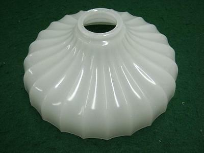 "Antique Scalloped 9"" Milk Glass Shade Light  #1507-13"