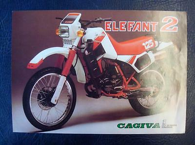 CAGIVA ELEFANT 2 - Motorcycle Sales/Specifications Sheet (Single A4) - Italian