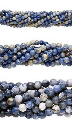 Wholesale Lot of 10, 16 inch Strands Round Blue Sodalite Natural Gemstone Beads