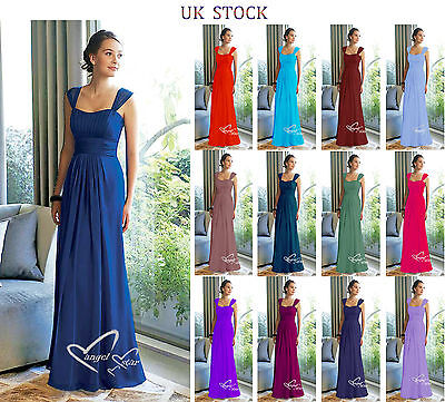 New Design Straps Ruched Long Chiffon bridesmaid Evening party Dress