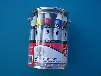 Daler Rowney Simply Oil Creative Pot Paint Brushes
