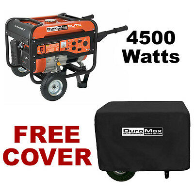 DuroMax 4500 Watt Portable RV Camping Gas Power Generator - MX4500 With Cover