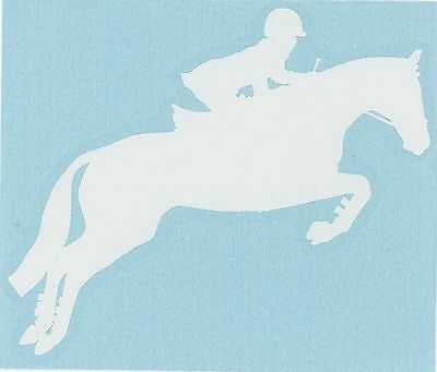 Sm White English Hunter Jumper Sport Horse Pony Olympic Equestrian Decal Sticker