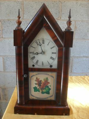 19th Century Rosewood American Gothic 8 Day Clock