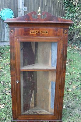Pretty regency mahogany glazed corner display cabinet • £350.00