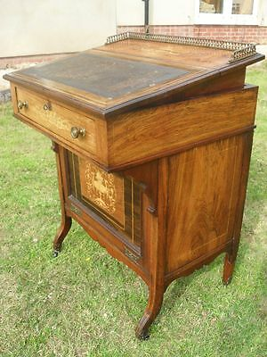 19th Century Rosewood and Inlaid Ladies Writing Desk