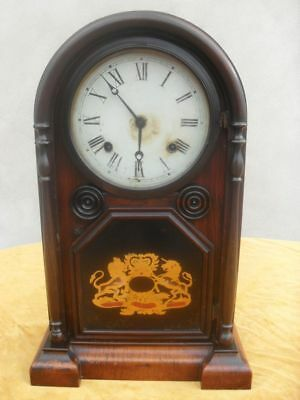 19th Century Dome Topped Rosewood American Mantel Clock