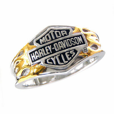 Harley-Davidson Ladies / Women's Sterling Silver Classic Logo Ring - NEW