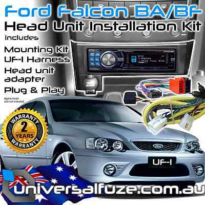 Alpine to Ford Falcon Single DIN plug & play Bluetooth USB IPOD unit Install Kit