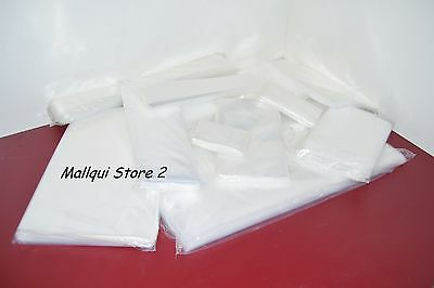 100 CLEAR 6 x 12 POLY BAGS 2 MIL PLASTIC FLAT OPEN TOP