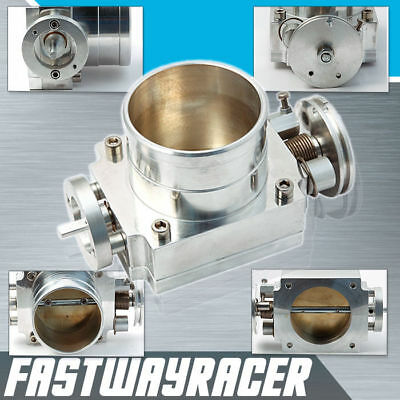 Universal Upgrade Aluminum Silver 70MM Throttle Body Intake Manifold MK1 MK2 MK3