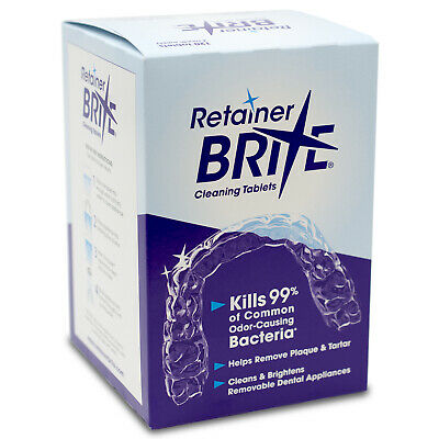 Retainer Brite Cleaning Tablets 96 Tablets - 3 Months Supply | Free Shipping