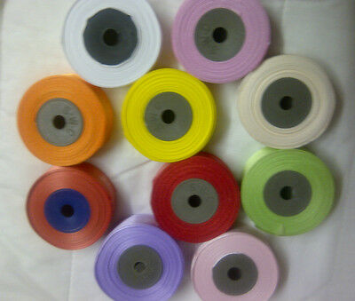 10 Rolls x  24 mm Satin Ribbon, 10 different Colors, 150 Yards
