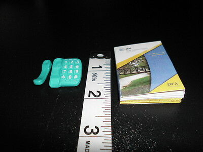 Office Phone and Phone Book for Barbie, Monster High Doll Dioramas