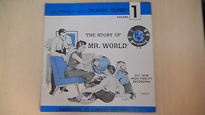 "The Story of Mr. World Volume 1   7"" 33 1/3RPM Record 1962"