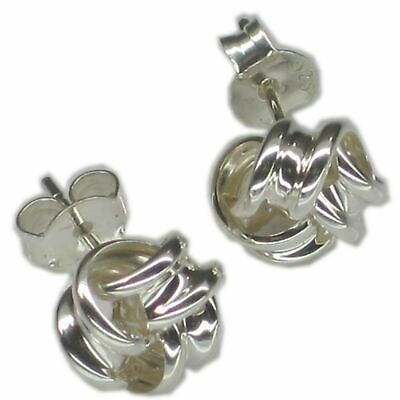 Knot Sterling silver Stud Earrings 925 IDBP1420
