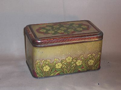 Antique / Vintage Tin with Flower patern Tea, Tabacco, Great Deco Item L@@K!