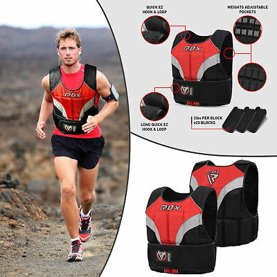 RDX 20KG Adjustabe Weighted Vest Weight Loss Removable Running Gym Training T1R