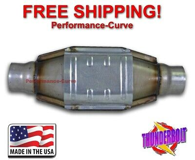 "2.5"" Catalytic Converter High Flow Thunderbolt OBDI 590006"