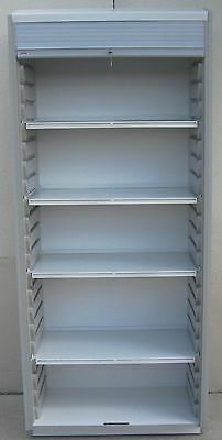 Stanley InnerSpace Surgical Supply Cabinet w/ Roll-Top Locking Tamboor Door