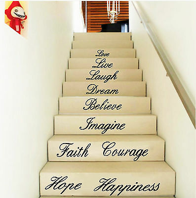 Hope Live Laugh Love Wall Art Quote Removable Stickers Vinyl Decals Home Decor