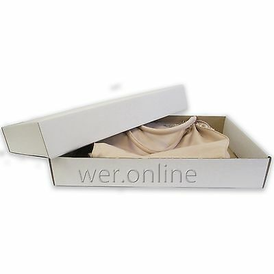 "High Quality White Cardboard Postal Base & Lid Boxes 19"" x 12"" x 3"" - 5½"" SW"