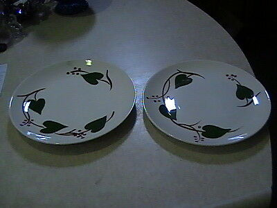 "6 Blue Ridge Southern Potteries Dinner Plates 9 3/8"" Hand Painted Under Glaze"