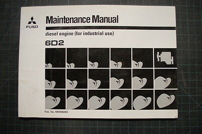 generator mitsubishi 6d22 diesel engine workshop manual books
