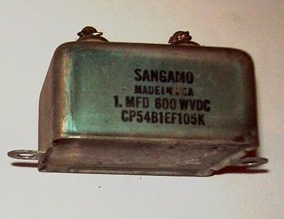 Recovered Sangamo 1Mfd 600VDC capacitor