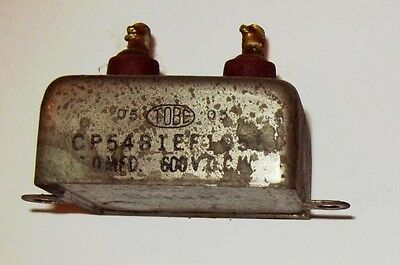 Recovered Tobe 1Mfd 600VDC capacitor